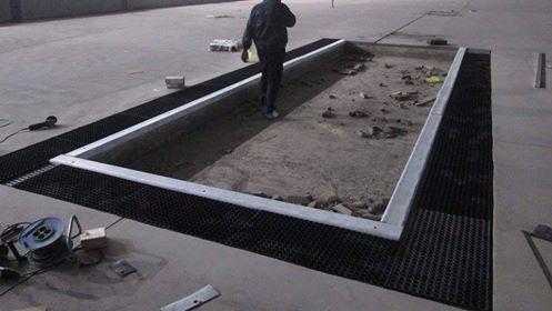 Izgradnja rubnjaka i otresišta doskočne jame Atl. dvorana Beograd
