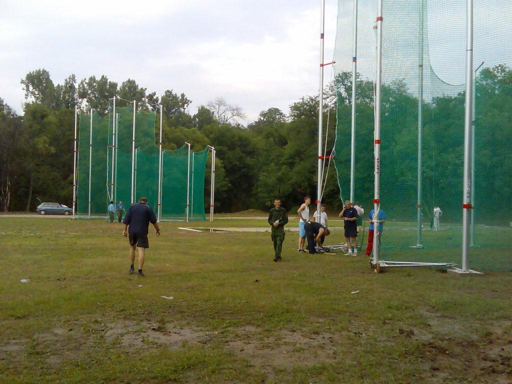 Montaza kaveza univerzijada stad Vojna Akademija