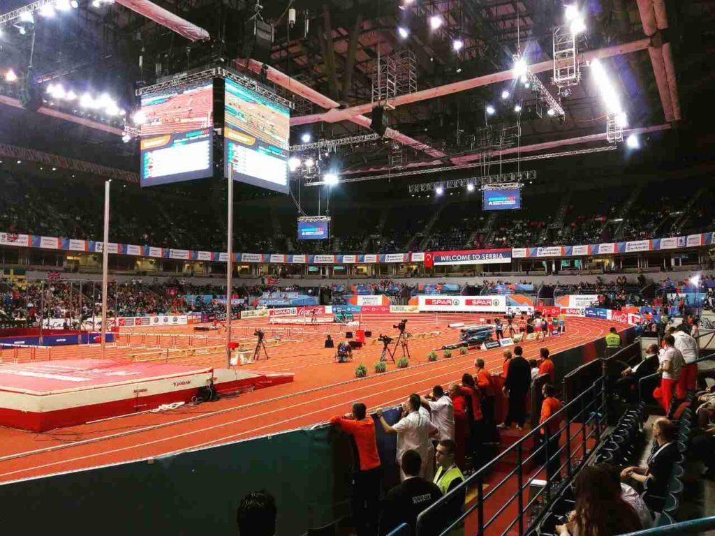 Projekat montažne atletske staze Arena Beograd dvoransko prvenstvo Evrope
