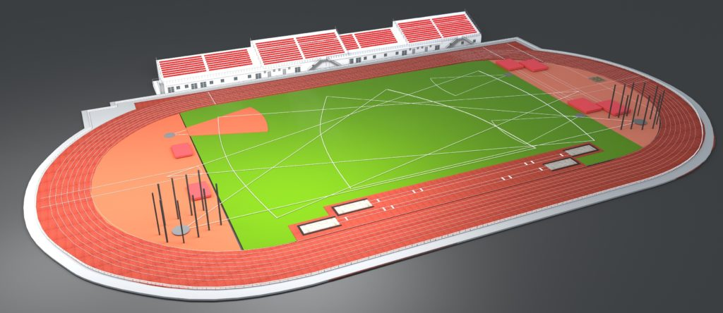 projekat atletskog stadiona Novi Pazar